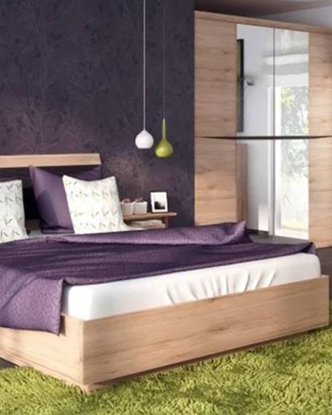 Béžová posteľ ArtExt