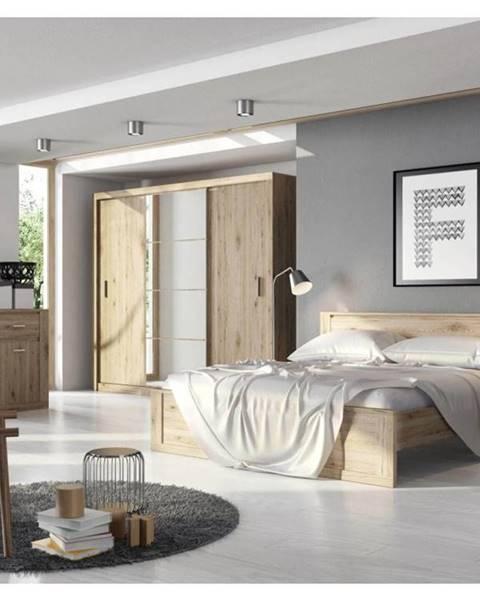 Béžová posteľ Dig-net nábytok