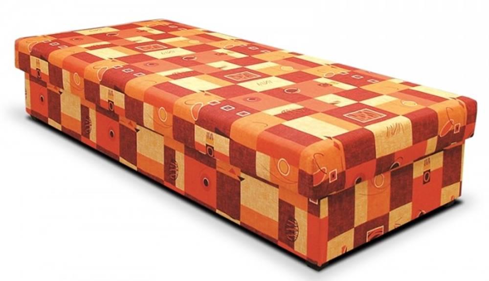 OKAY nábytok Váľanda Dana 90x200, oranžová, vrátane matraca a úp