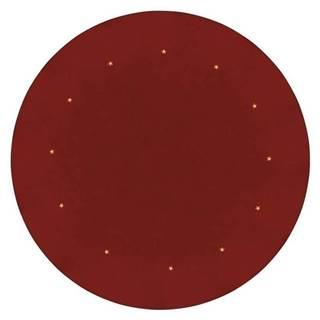 LED dekorace  Emos podložka pod vánoční strom, červená, 1m, časovač