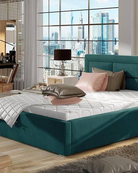 Tyrkysová posteľ NABBI