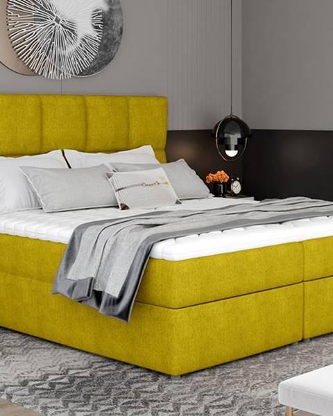 Žltá posteľ NABBI