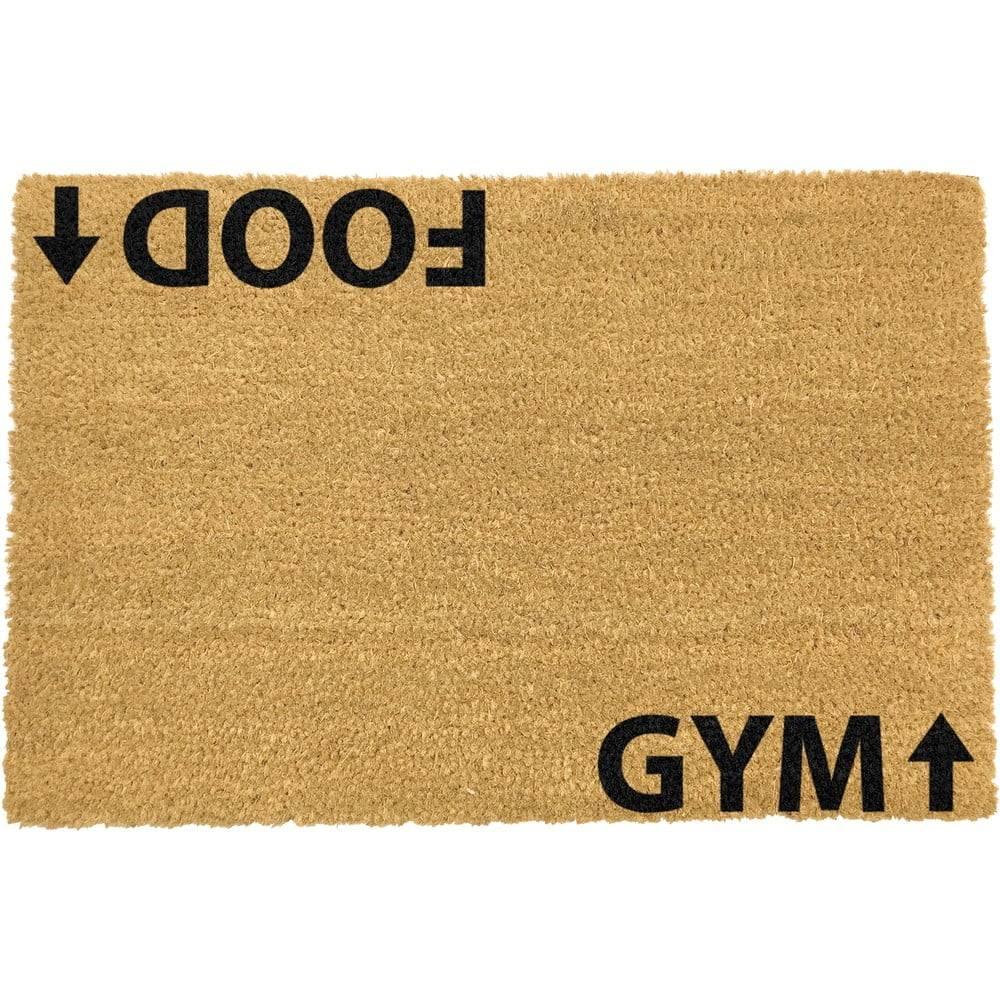 Artsy Doormats Rohožka z prírodného kokosového vlákna Artsy Doormats Gym Addict, 40 x 60 cm