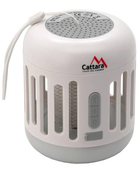 Biela stolová lampa Cattara