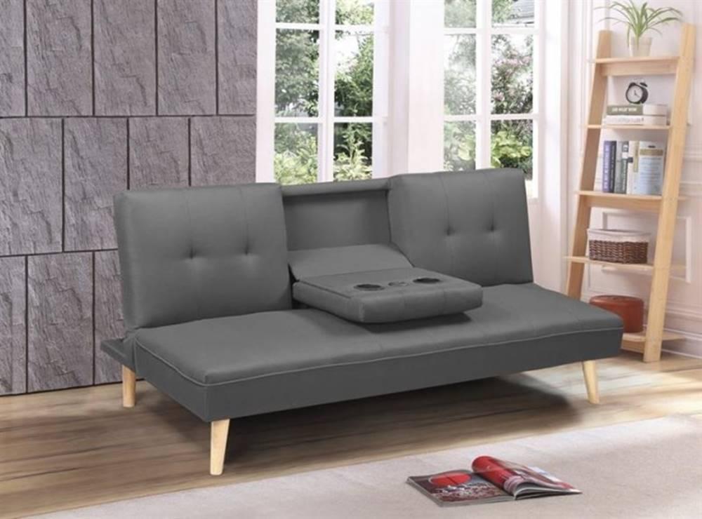 OKAY nábytok Rozkladacia pohovka Tusi sivá