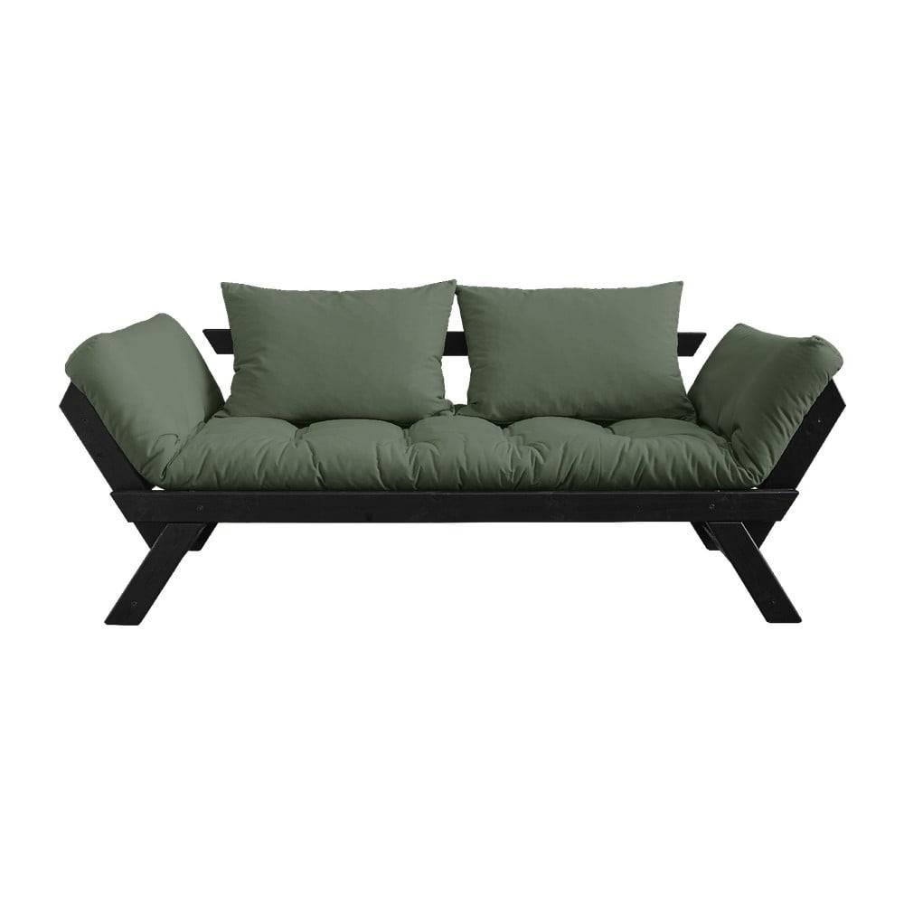 Karup Design Rozkladacia pohovka so zeleným poťahom Karup Design Bebop Black/Olive Green