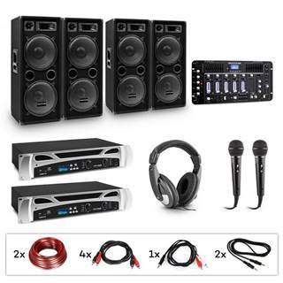 Electronic-Star eStar Bass-Party Pro, DJ systém, sada, 2 x PA zosilňovač, DJ mixér, 4 x subwoofer