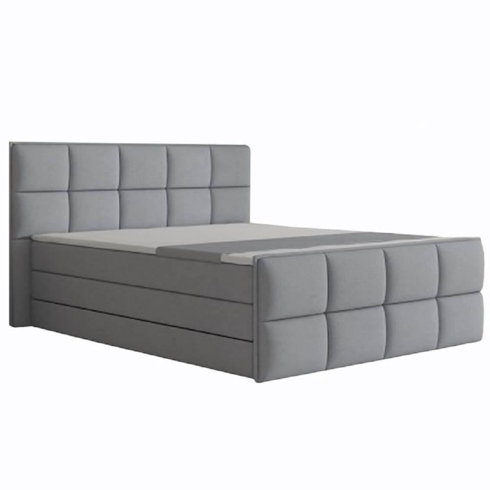Komfortná posteľ sivá látka...