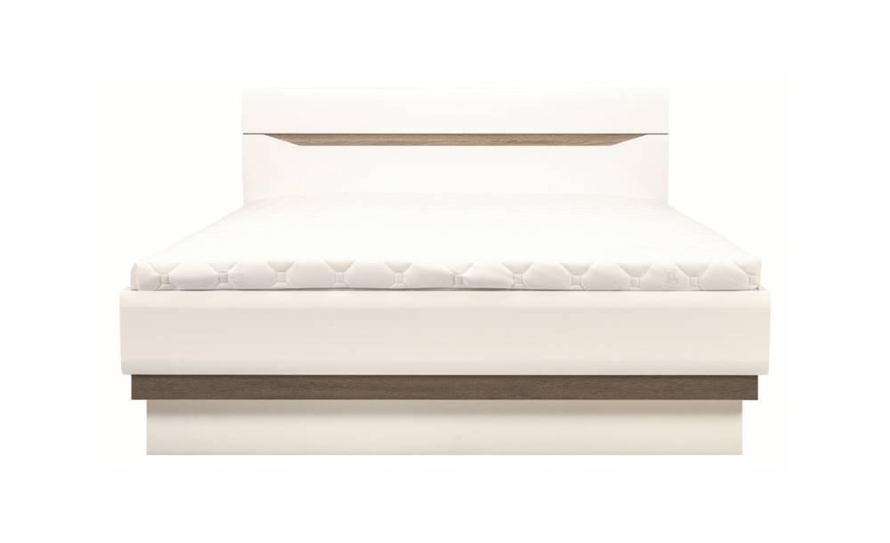 Sconto Posteľ LUCY 12 biela lesk, 180x200 cm